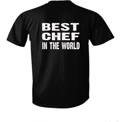 Best Chef In The World - Ultra-Cotton T-Shirt Back Print Only S-Real black- Cool Jerseys - 1