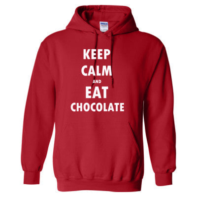 Keep Calm And Eat Chocolate - Heavy Blend™ Hooded Sweatshirt - Cool Jerseys - 1
