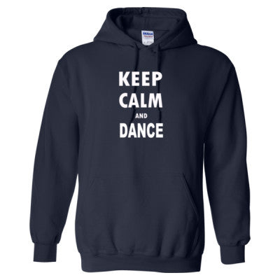 Keep Calm And Dance - Heavy Blend™ Hooded Sweatshirt S-Navy- Cool Jerseys - 1