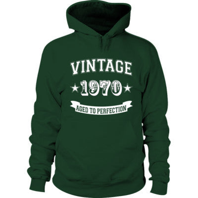 Vintage 1970 Aged To Perfection tshirt - Hoodie S-Forest Green- Cool Jerseys - 1