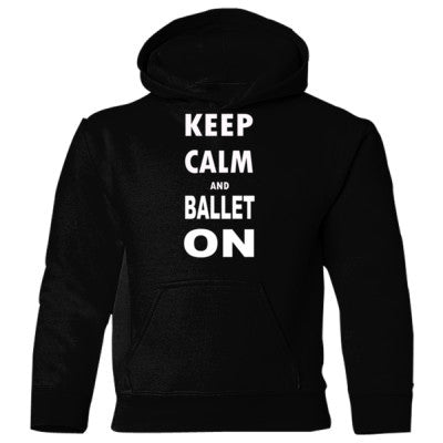 Keep Calm and Ballet On - Heavy Blend Children's Hooded Sweatshirt S-Black- Cool Jerseys - 1