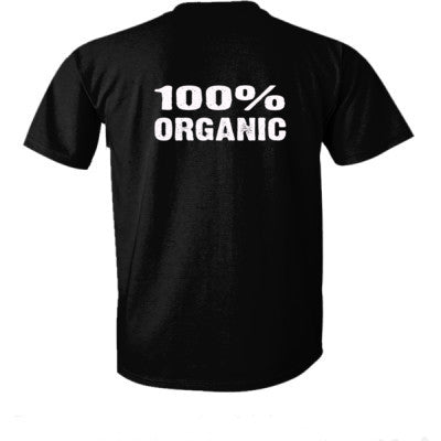 100% Organic tshirt - Ultra-Cotton T-Shirt Back Print Only S-Real black- Cool Jerseys - 1