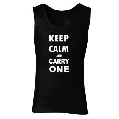 Keep Calm and Carry One - Ladies' Soft Style Tank Top S-Black- Cool Jerseys - 1