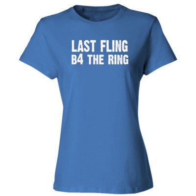 Last Fling Before The Ring tshirt - Ladies' Cotton T-Shirt S-Carolina Blue- Cool Jerseys - 1