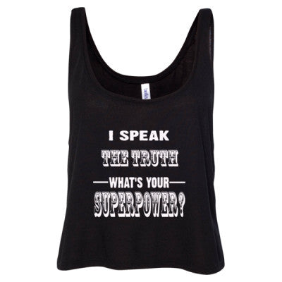 I Speak The Truth - Ladies' Cropped Tank Top - Cool Jerseys - 1