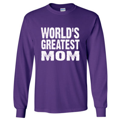 Worlds Greatest Mom - Long Sleeve T-Shirt - Cool Jerseys - 1
