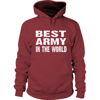 Best Army In The World - Hoodie S-Maroon- Cool Jerseys - 1