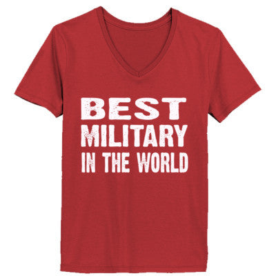 Best Military In The World - Ladies' V-Neck T-Shirt - Cool Jerseys - 1