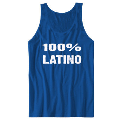 100% Latino tshirt - Unisex Tank S-True Royal- Cool Jerseys - 1