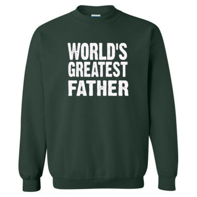 Worlds Greatest Father - Heavy Blend™ Crewneck Sweatshirt S-Forest- Cool Jerseys - 1