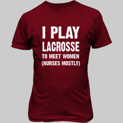 I Play Lacrosse To Meet Women S-Cardinal Red- Cool Jerseys - 1