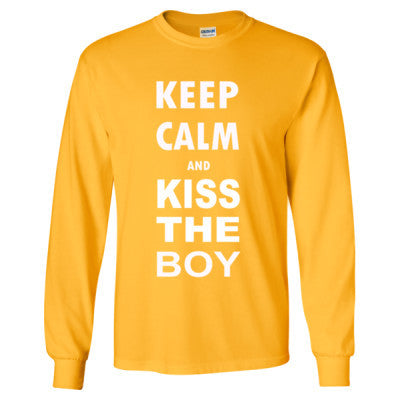 Keep Calm And Kiss The Boy - Long Sleeve T-Shirt - Cool Jerseys - 1