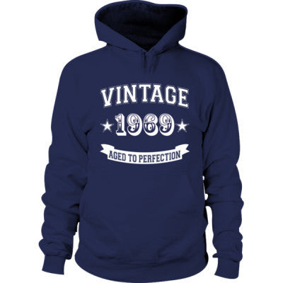 Vintage 1969 Aged To Perfection Tshirt - Hoodie S-Navy- Cool Jerseys - 1
