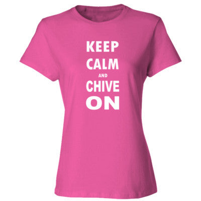 Keep Calm And Chive On S-Wow Pink- Cool Jerseys - 1