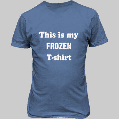 Frozen T-shirt - Unisex T-Shirt FRONT Print S-Carolina Blue- Cool Jerseys - 1
