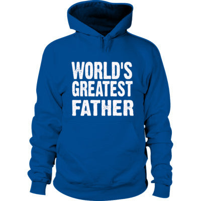 Worlds Greatest Father - Hoodie S-Royal+- Cool Jerseys - 1