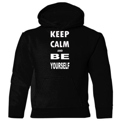 Keep Calm and Be Yourself - Heavy Blend Children's Hooded Sweatshirt - Cool Jerseys - 1