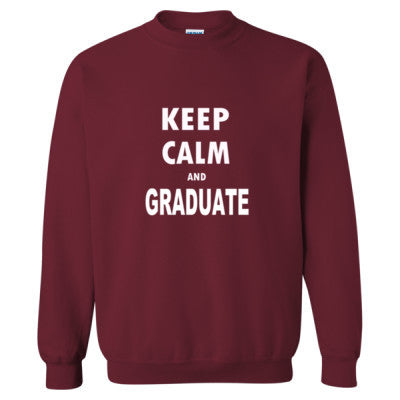 Keep Calm And Graduate - Heavy Blend™ Crewneck Sweatshirt S-Garnet- Cool Jerseys - 1