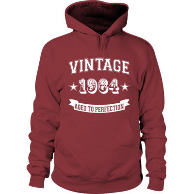 Vintage 1964 Aged To Perfection - Hoodie S-Maroon- Cool Jerseys - 1