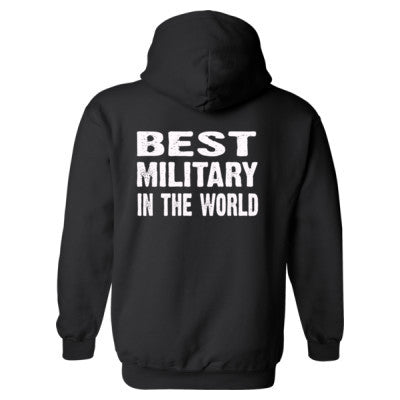 Best Military In The World - Heavy Blend™ Hooded Sweatshirt BACK ONLY S-Black- Cool Jerseys - 1