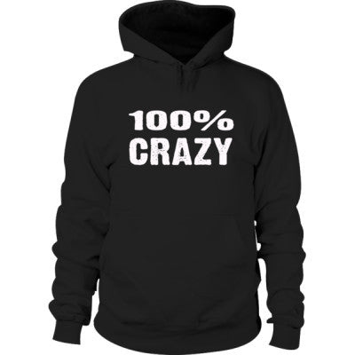 100% Crazy Hoodie S-Black- Cool Jerseys - 1