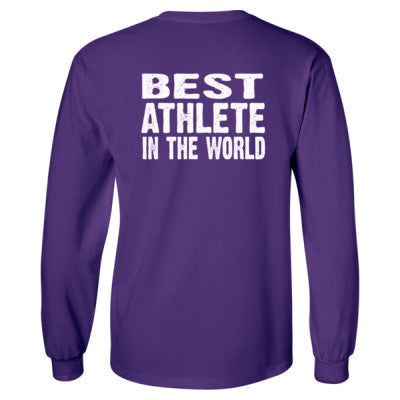 Best Athlete In The World - Long Sleeve T-Shirt - BACK PRINT ONLY S-Purple- Cool Jerseys - 1