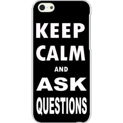 Keep calm and ask questions - iPhone 5C Cover - FREE SHIPPING WITHIN USA OS-Clear- Cool Jerseys