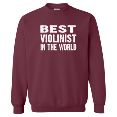 Best Violinist In The World - Heavy Blend™ Crewneck Sweatshirt S-Maroon- Cool Jerseys - 1
