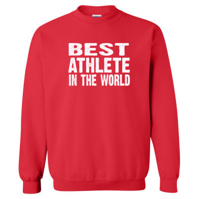 Best Athlete In The World - Heavy Blend™ Crewneck Sweatshirt S-Red- Cool Jerseys - 1