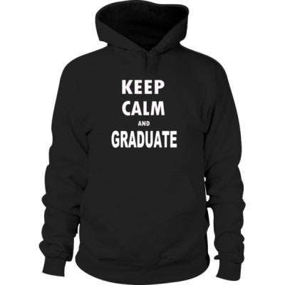 Keep Calm And Graduate - Hoodie S-Black- Cool Jerseys - 1