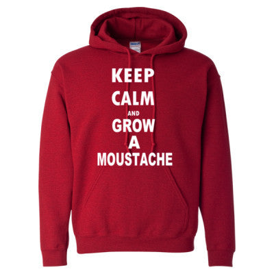 Keep Calm And Grow A Moustache - Heavy Blend™ Hooded Sweatshirt - Cool Jerseys - 1