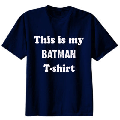 Batman T-shirt - Youth Boys Short-Sleeve T-Shirt S-Navy- Cool Jerseys - 1