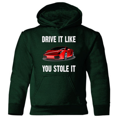 Drive It Like You Stole It - Heavy Blend Children's Hooded Sweatshirt S-Forest Green- Cool Jerseys - 1