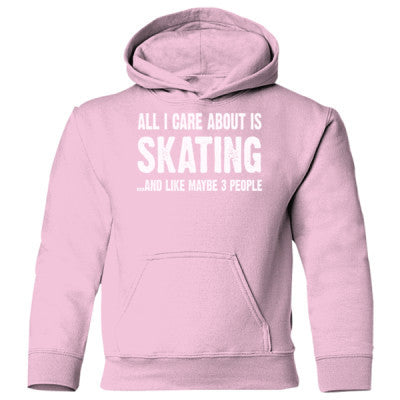 All i Care About Skating And Like Maybe Three People Heavy Blend Children's Hooded Sweatshirt - Cool Jerseys - 1