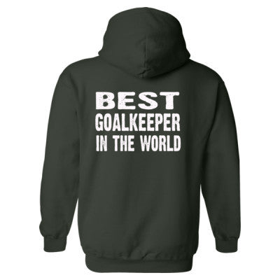 Best Goalkeeper In The World - Heavy Blend™ Hooded Sweatshirt BACK ONLY S-Forest- Cool Jerseys - 1