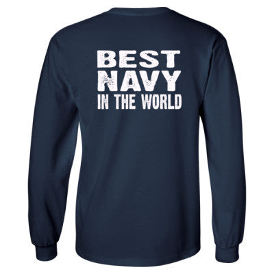 Best Navy In The World - Long Sleeve T-Shirt - BACK PRINT ONLY - Cool Jerseys - 1