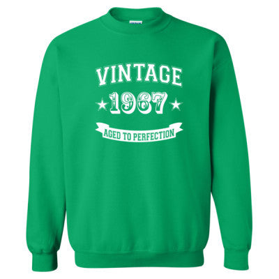 Vintage 1967 Aged To Perfection - Heavy Blend™ Crewneck Sweatshirt S-Irish Green- Cool Jerseys - 1