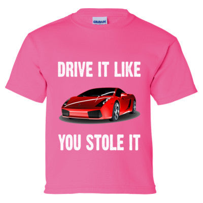 Drive It Like You Stole It - Girls T-Shirt Front and Back Print - Cool Jerseys - 1
