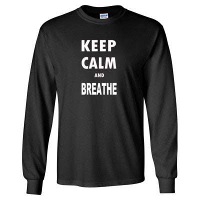 Keep Calm and Breathe - Long Sleeve T-Shirt - Cool Jerseys - 1