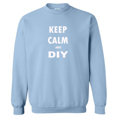 Keep Calm And DIY - Heavy Blend™ Crewneck Sweatshirt S-Light Blue- Cool Jerseys - 1
