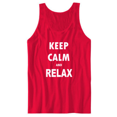 Keep Calm And Relax - Unisex Jersey Tank S-Red- Cool Jerseys - 1
