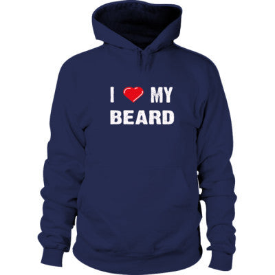I Love My Beard Hoodie S-Navy- Cool Jerseys - 1
