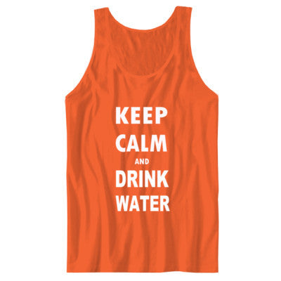 Keep Calm And Drink Water - Unisex Jersey Tank XS-Orange- Cool Jerseys - 1