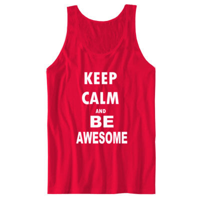 Keep Calm And Be Awesome - Unisex Jersey Tank - Cool Jerseys - 1