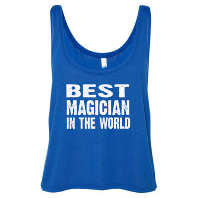 Best Magician In The World - Ladies' Cropped Tank Top S-True Royal- Cool Jerseys - 1