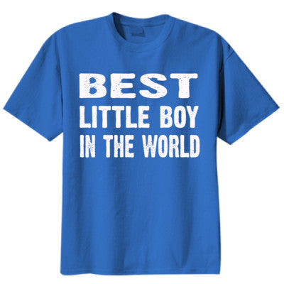 Best Little Boy In The World - Youth Boys Short-Sleeve T-Shirt S-True Royal- Cool Jerseys - 1