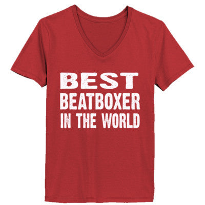 Best Beatboxer In The World - Ladies' V-Neck T-Shirt - Cool Jerseys - 1