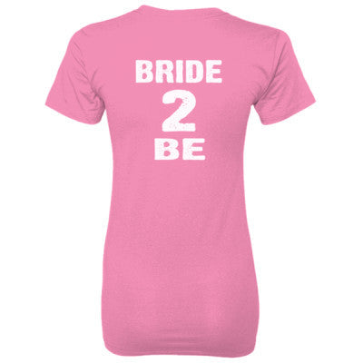 Bride To Be Tshirt - Ladies' 100% Ringspun Cotton nano-T® Back Print Only S-Pink- Cool Jerseys - 1