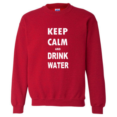 Keep Calm And Drink Water - Heavy Blend™ Crewneck Sweatshirt S-Antique Cherry Red- Cool Jerseys - 1