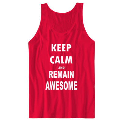 Keep Calm And Remain Awesome - Unisex Jersey Tank - Cool Jerseys - 1